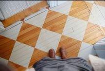 I LOVE: Painted floor