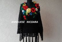 PONCHO / Unique Hand Crocheted PONCHO