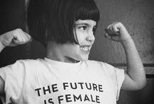 Feminism / stay woke, fam