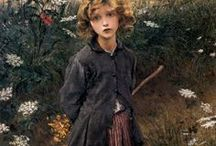 Bastien-Lepage, Jules (fr) * / Jules Bastien-Lepage (November 1, 1848 – December 10, 1884) was a French painter closely associated with the beginning of naturalism, an artistic style that emerged from the later phase of the Realist movement. (wikipeddia)