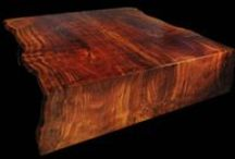 Slab Tables / Walnut, Redwood, Giant SequoiaAcacia, Teak, Rosewood, Maple