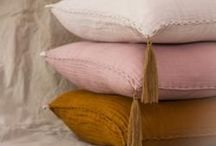 Pillows, blankets and bedspread