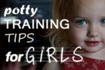 Potty Training Girls / The best tips and advice on how to potty train girls.
