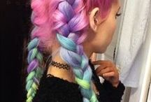 Eccentric & Electric Hair Colours & Styles / Non-genetic hair colours - pink, purple, green, blue, grey, white, you name it. Amazing colours, amazing styles.