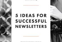 Email Marketing Tips + Tricks / Did you know you can still market your business while emailing? We pulled together a ton of tips and tricks on what to do in business emails whether you're sending out newsletters, promotions, etc. to ensure your marketing is the most effective it can be.