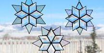 Снежинки Звезды Праздники