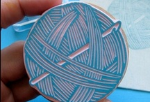 Hand carved Stamps and Stencils