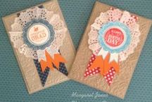 Stampin up Blue Ribbon / Examples of projects made with the stampset Blue Ribbon from Stampin up