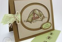 Stampin up The Great Outdoors / Examples from the stampset from Stampin up