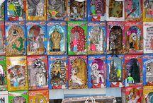 Nicho Retablo Shrine Altar / Nichos, altars, shadow boxes, shrines, milagros