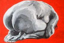 Portfolio / Nude paintings / Art, paintings, nude, expressive www.anna-galkina.de