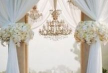 Draped Chuppah / Different romantic ways to create the chuppah design that you want.  Custom chuppah design and draping.