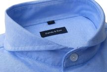 DANDY & SON SHIRTS / Extreme cutaway slim fit shirts.