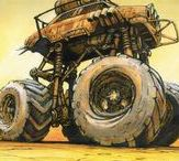 Post Apocalyptic Vehicles / If I get to drive these vehicles then bring on the Zombie Apocalypse!