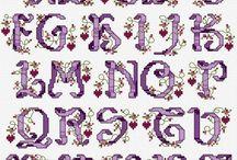 Cross Stitch ~ Alphabets