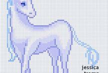 Cross Stitch ~ Unicorns