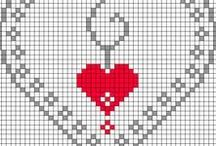 Cross Stitch ~ Hearts