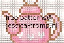 Cross Stitch ~ Tea Time
