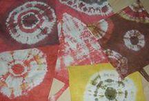 Batikolás, textilfestés / Batikolás.