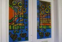 Üvegfestés- Glass painting / Üvegfestés.