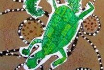 Art proojekt:Ausztrál benszülött művészet- Art Projects: Aboriginal Art