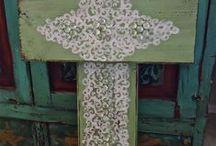 Crosses / DIY of crosses /wood/writting
