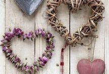 Hearts / Tin hearts, flower hearts, material hearts ect
