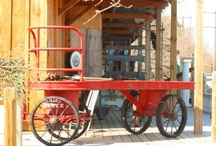 Turn of the Century Canada Post Letter Bag Wagon / This is one of 2 turn of the century hand carts at Forks Road Pottery located at the historic train station in Grimsby, Ontario.