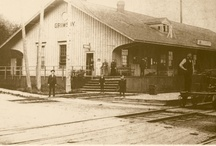 Grimsby's Great Western Railway Station / Grimsby's Great Western Railway Station was built around 1860 and is the oldest standing wooden train station in Canada.  It is now the home of Forks Road Pottery.