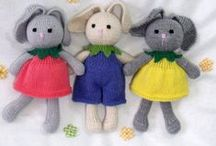 Bunny patterns / Knitting patterns for toy. / by CSKraft