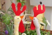 Mathilde von Gack / Ein Huhn geht um die Welt Chicken sewing fabric deko Stoffhun crafting