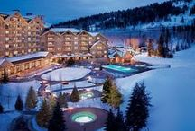 Ski Resorts / Cabins to chill out and slopes to explore...