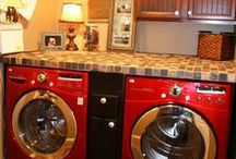 laundry room love + dirt / Chances are, any of these laundry rooms could be put right in my house and I'd be TOTALLY okay with that.  I might even sleep with them.  / by Krystle Holt