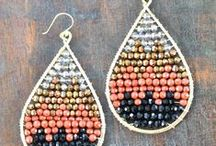 Earring Inspiration / Handmade artisan earrings that I love.  Wire wrap, beaded, gemstone, fiber, woven, any and all of the above!  For jewelry makers or jewelry lovers.