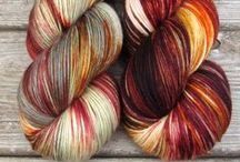 Our Yarns and Fibers / Yarns, silk scarves, and fibers dyed by Miss Babs