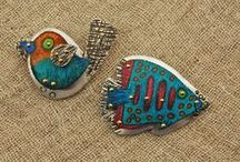 Hair Jewelry & Shawl Pins / Wire and bead hair clips, barrettes, slides and shawl pins