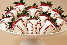 Baseball / Stuff related to baseball or softball. Probably jewelry.