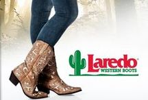 Laredo Life / Laredo Western Boots: Known for its popular prices and authentic western styling, Laredo covers the style spectrum from riding to classic western to buckaroo styles. Whether you wear them for Saturday night out on the town or to work every day, Laredo Boots will stand up to the test.