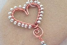 Heart Shaped Jewelry / heart shaped jewelry inspiration and some free tutorials to get you creating for Valentine's Day, Mother's Day or just because you love someone!  DIY, Crafts, Jewelry Making