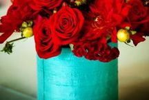 Red & Teal Wedding / Red & Agua/Teal for a Wedding