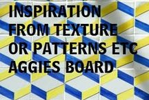 INSPIRATION FROM PATTERNS....TEXTURES / PATTERNS FROM MANY THINGS...INTERESTING ...INSPIRING