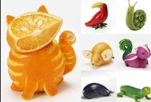 FRUIT&VEGETABLES CARVINGS...FOOD ART ETC / AND...IDEAS FOR USING FOOD FOR PARTIES AND SUCH / by Agnes Krause