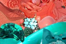 Teal/Coral Wedding / Shades of Teal & Aqua with Coral