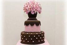Pink/Brown Wedding / Brown & Shades of Pink