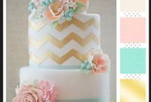 Wedding in Pastels / Lilac, Peach, Baby Blue, Pale Pink & Mint Green.