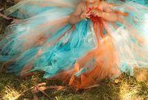 Aqua/Orange Wedding / Turquoise, Aqua & Orange