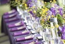 Purple/Yellow Wedding / Yellow & Shades of Purple