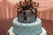 Blue Chocolate Wedding / Shades of Blue Mixed with Brown