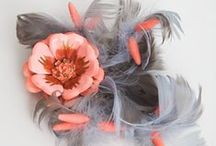 Coral/Grey Wedding / Lush Corals Mixed with Grey/Silver