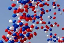 Red/White/Blue Wedding / Red White & Blue - Patriotic Colors for Weddings.